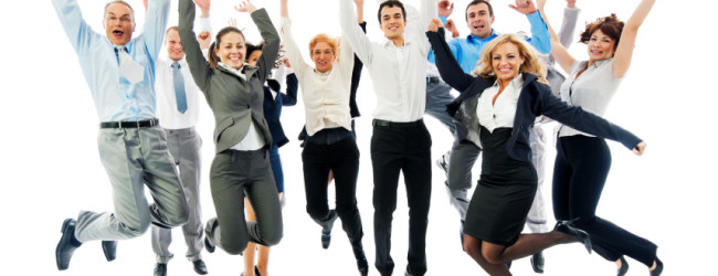 Large group of a business people jumping together.  Isolated on a white background.   [url=http://www.istockphoto.com/search/lightbox/9786622][img]http://dl.dropbox.com/u/40117171/business.jpg[/img][/url]